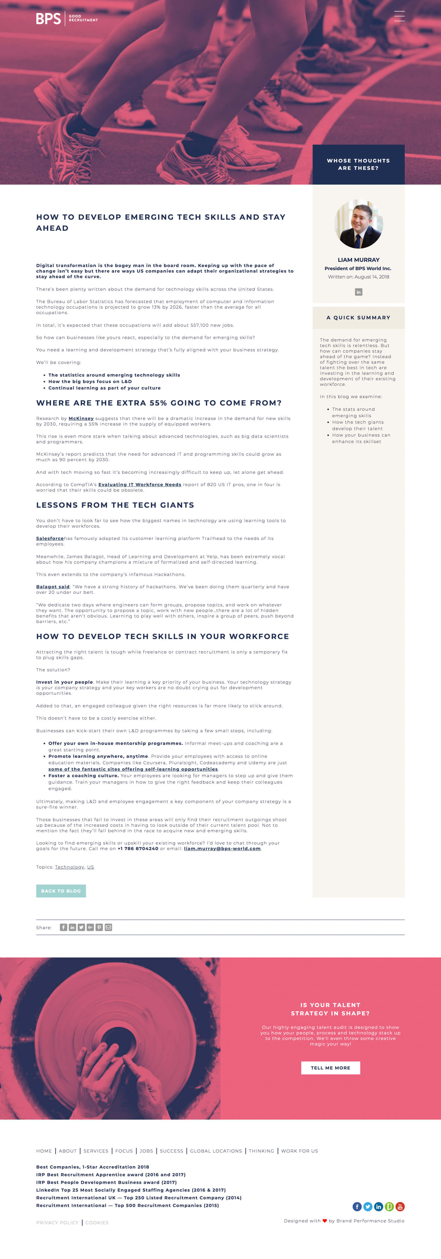 Blog Post View |  BPS-World Ltd. - Screenshot