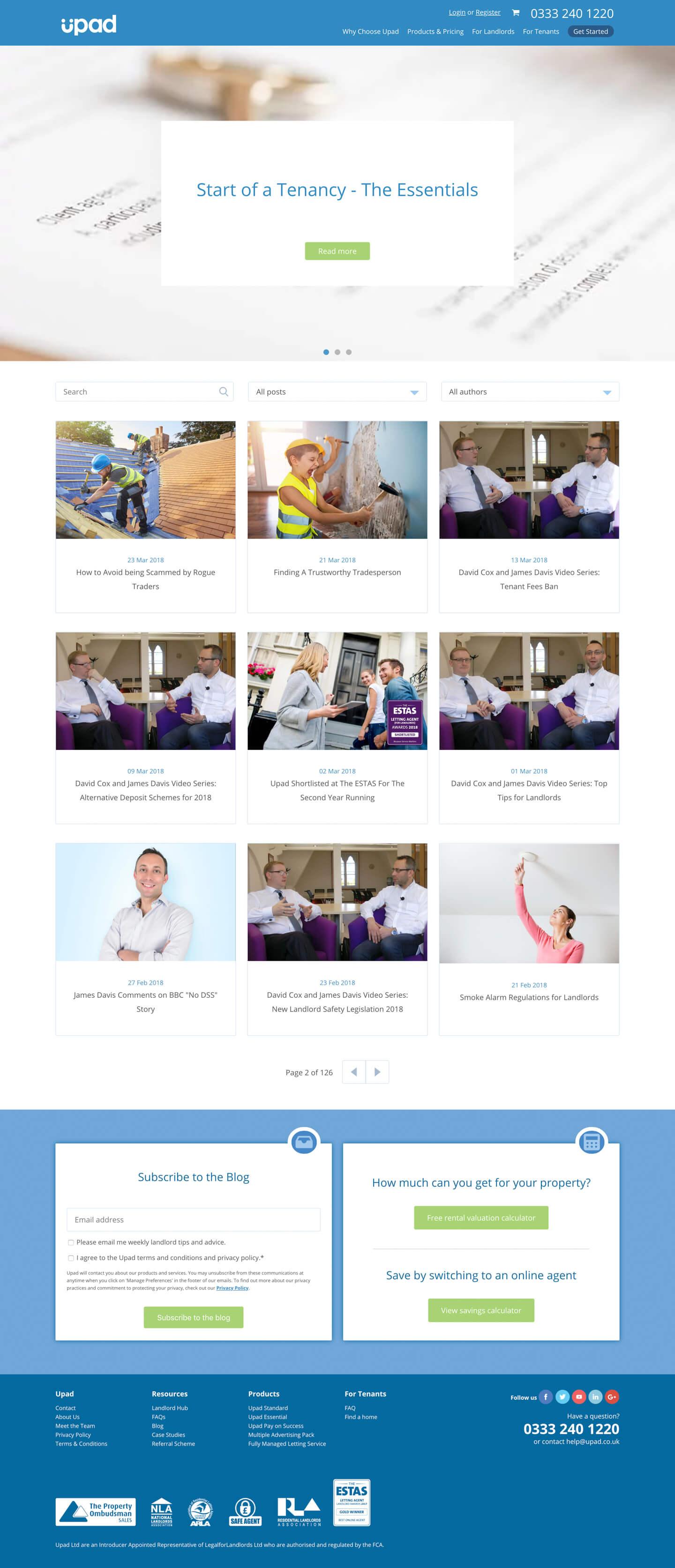 Blog Index |  UPAD Ltd. - Screenshot