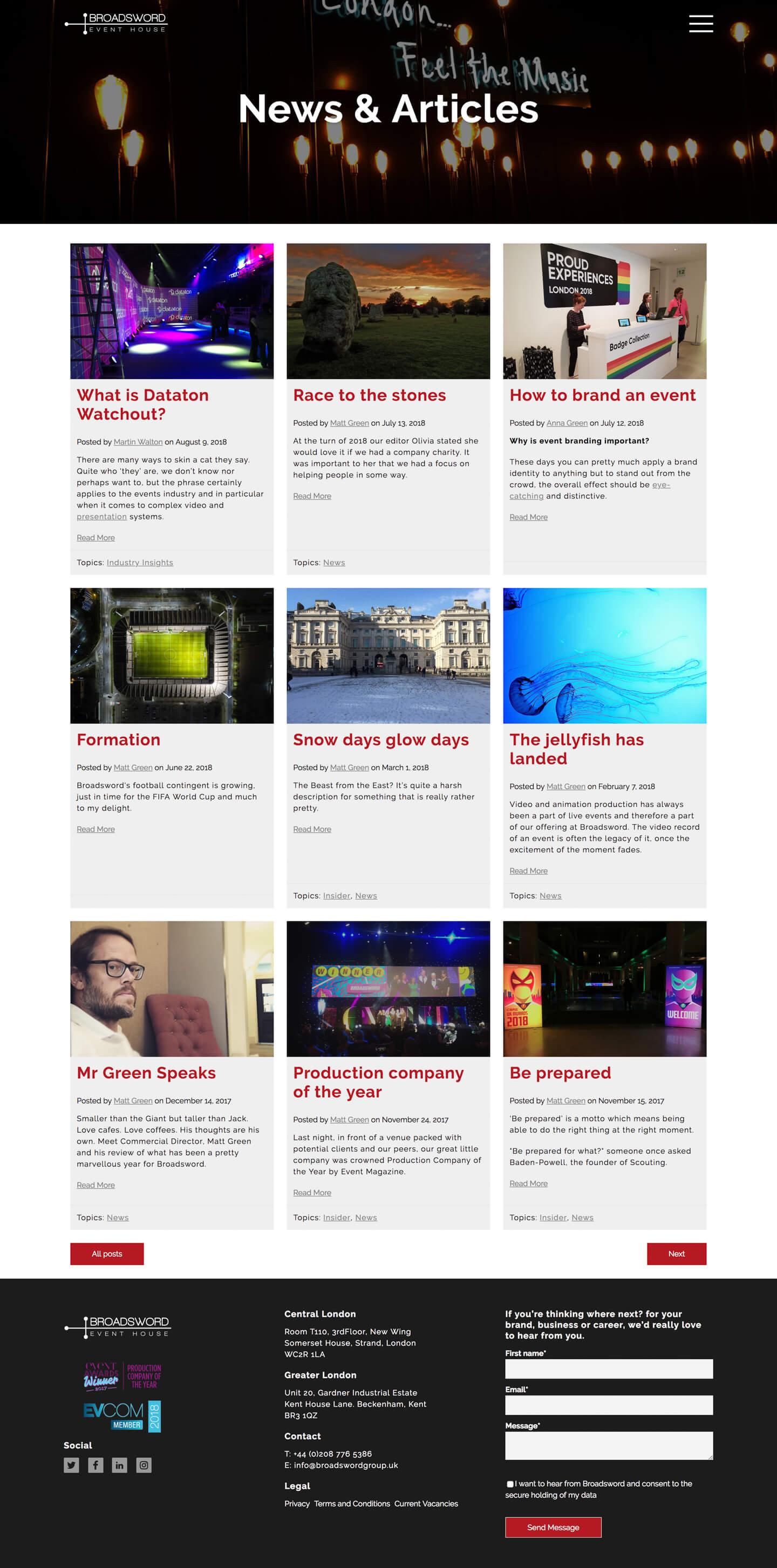 Blog Index |  BroadSword Group Ltd. - Screenshot