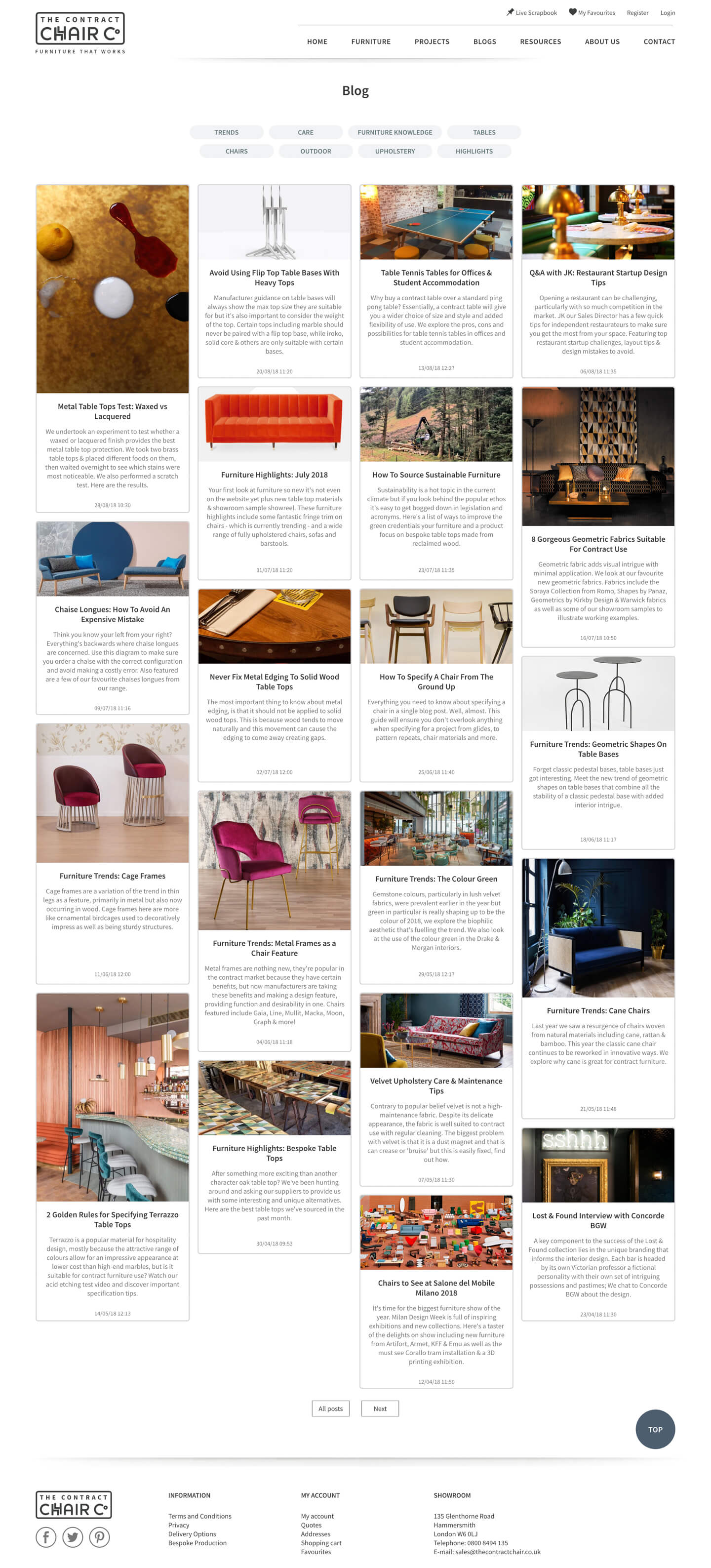Blog Index |  The Contract Chair Company - Screenshot