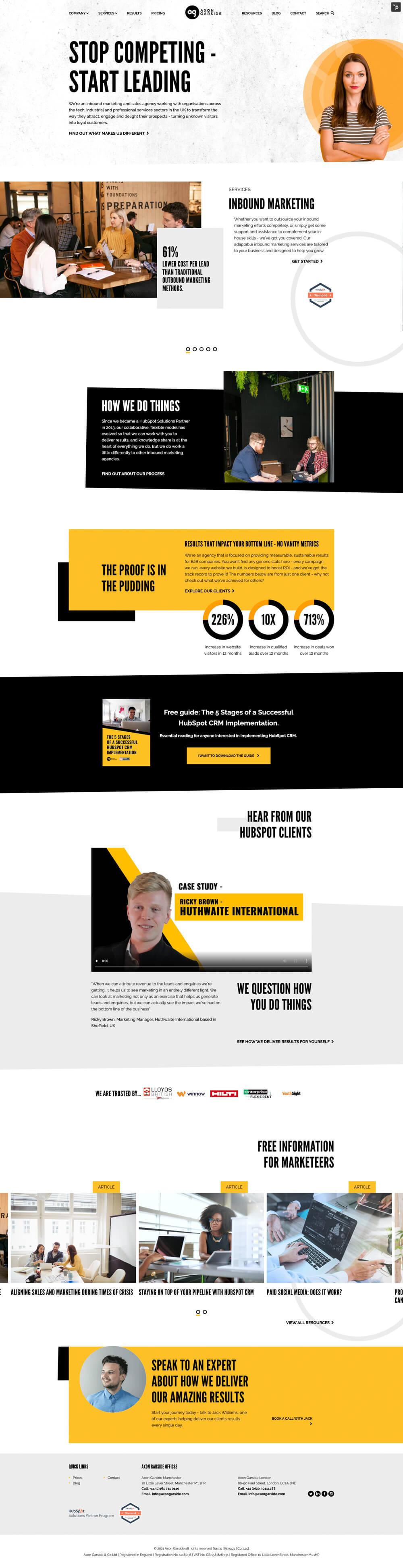 Homepage | Axon Garside & Co Ltd - Screenshot