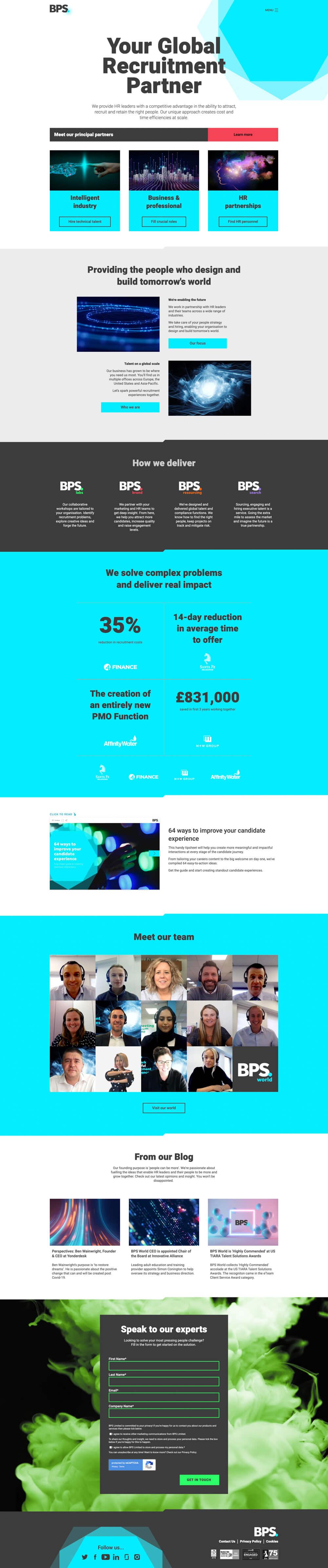 Homepage |  BPS World Ltd. - Screenshot