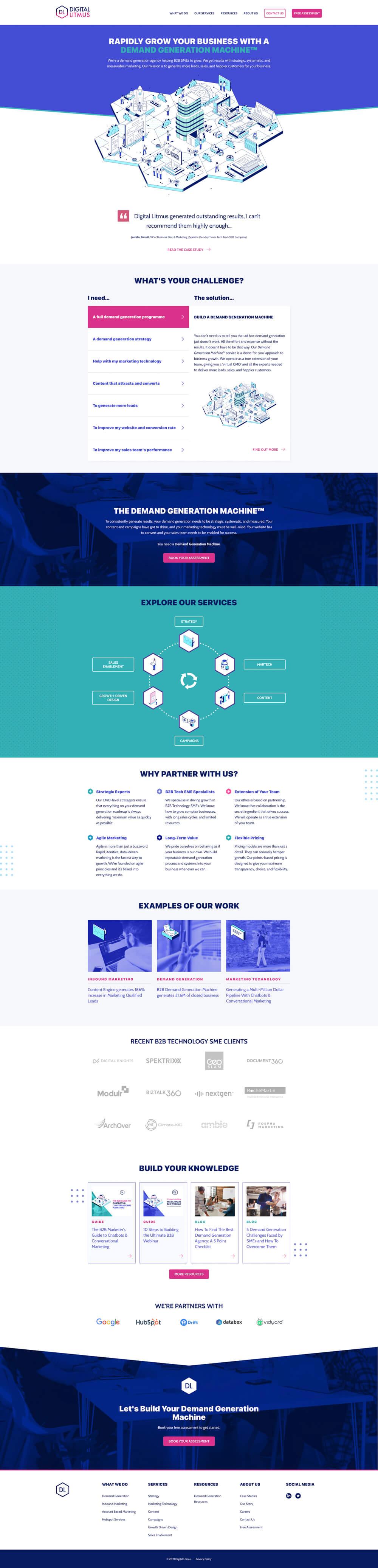 Homepage | Digital Litmus Ltd. - Screenshot