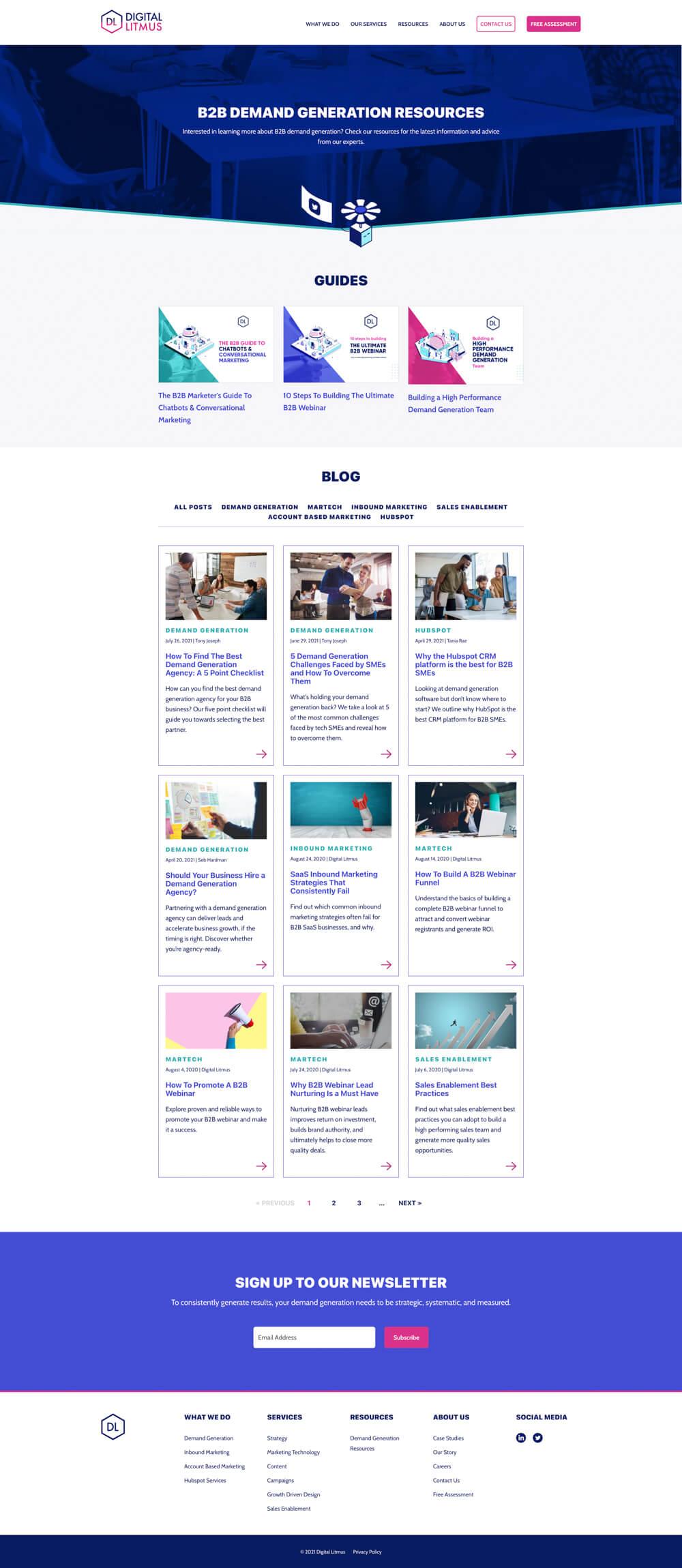 Blog Index | Digital Litmus Ltd. - Screenshot